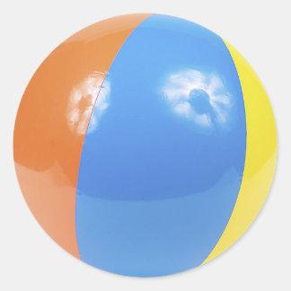 beach ball photo classic round sticker
