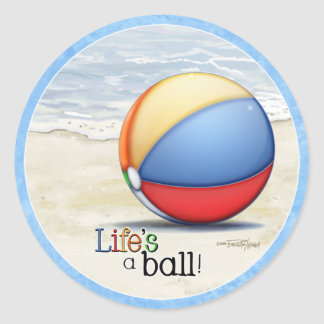 Beach ball stickers