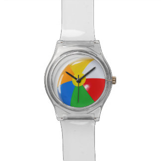 Beach Ball Summer Fun Round Beach Ball Watch