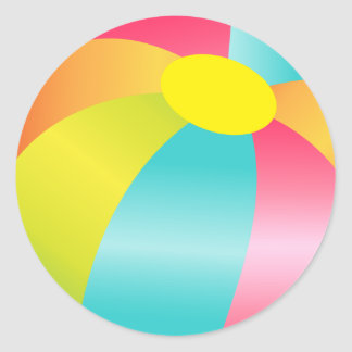 Beach Ball Summer Time Fun Sticker