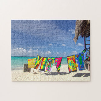 Beach Bar Jamaica. Jigsaw Puzzle