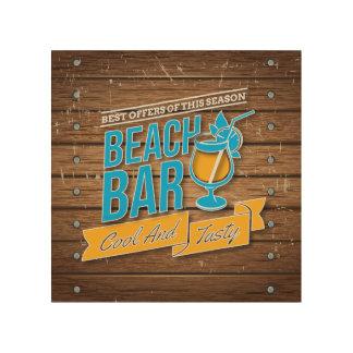 Beach Bar Wood Wall Art