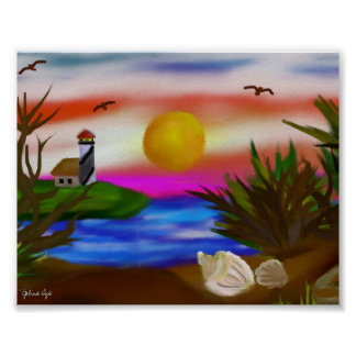 Beach Bay Escape Poster