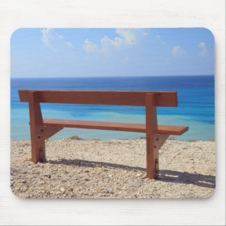 Beach bench mouse pad