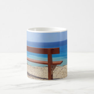 Beach bench coffee mug