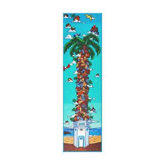 Beach Bird House 2 Canvas Print