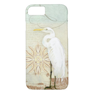 Beach Birds Nautical Art Great Egret Coastal Shore iPhone 8/7 Case
