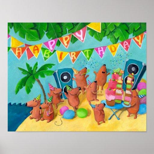 Beach Birthday Party Print