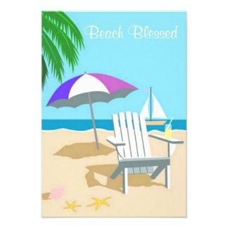 Beach Blessed Invite Custom Invitations