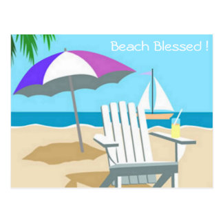 Beach Blessed Postcard