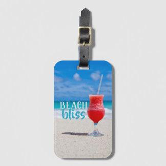 Beach Bliss Tropical Cocktail Luggage Tag