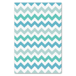 Beach Blue Chevron Pattern Tissue Paper