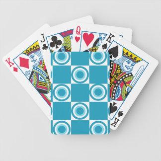 Beach Blue Dots Poker Deck