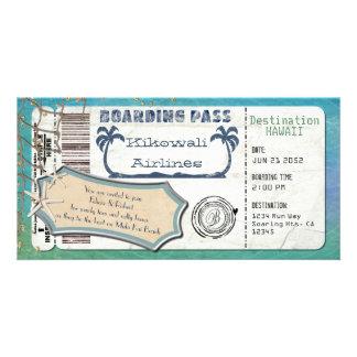 Beach  Boarding Pass Card