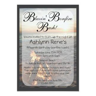 Beach Bonfire Invitation