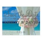 Beach Bouquet Save The Date Postcard