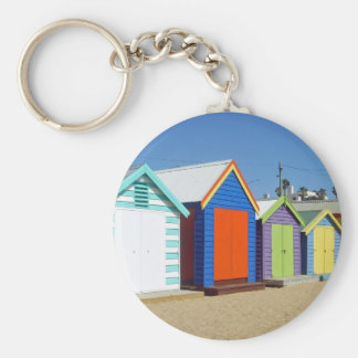 Beach Box Hut Melbourne Australia Basic Round Button Key Ring