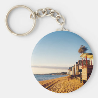 Beach Boxes Photo Key Ring