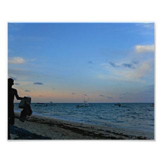 Beach boy silhouette photo