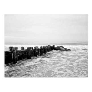 Beach Breakwater - Wide Postcard