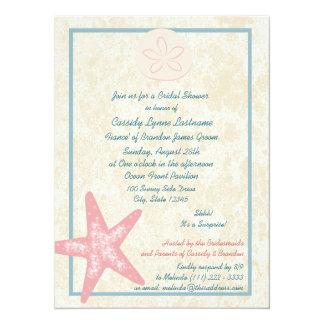 Beach Bridal Shower 14 Cm X 19 Cm Invitation Card