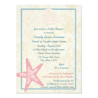 Beach Bridal Shower Card