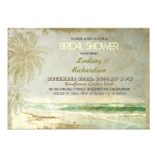 beach bridal shower invitations