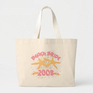 Beach Bride 2008 Large Tote Bag