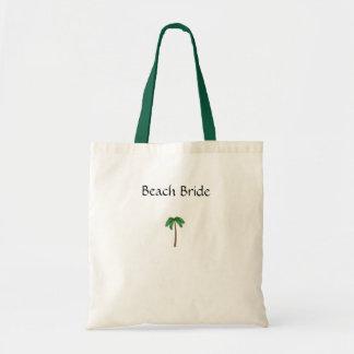Beach Bride Tote Bags