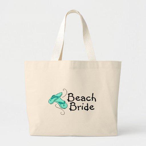 Beach Bride (Beach Wedding) Jumbo Tote Bag