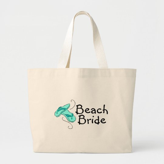 Beach Bride (Beach Wedding) Large Tote Bag