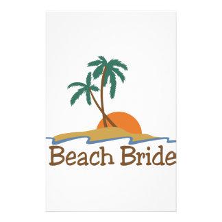Beach Bride Customised Stationery