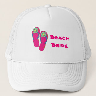 Beach Bride Hat:  Flip Flop Design Trucker Hat