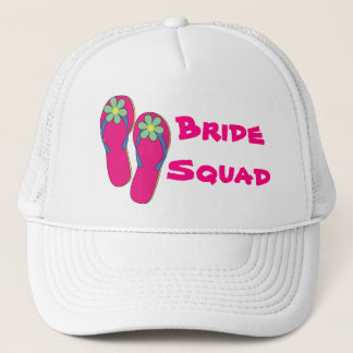 Beach Bride Squad Hat:  Flip Flop Design Trucker Hat