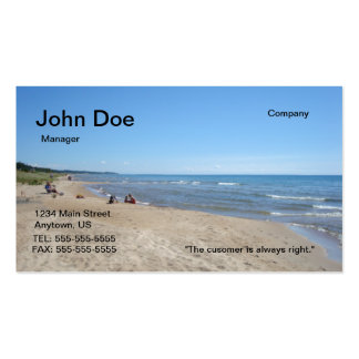 Beach buisness card business cards