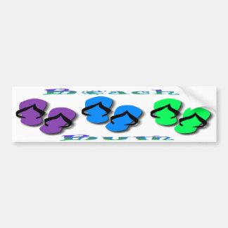 Beach Bum Flip Flops Bumper Sticker