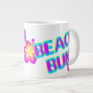 Beach Bum Funny Saying Pink Large Coffee Mug