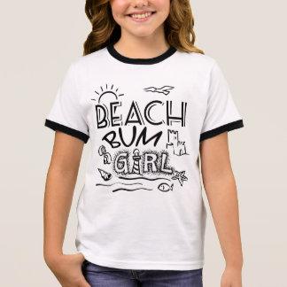 Beach Bum Girl's Ringer T-Shirt