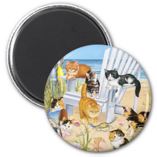 Beach Bum Kittens Magnet