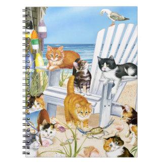 Beach Bum Kittens Spiral Notebook