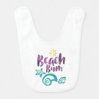 Beach Bum Seashells & Sun Summer Vacation KD06 Bib