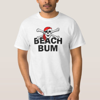 Beach Bum Skull and Crossbones Pirate T-Shirt