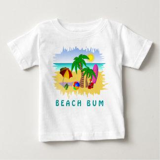 Beach Bum Sun Sea and Surf Fun Colorful Baby Tee