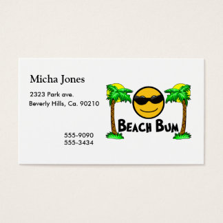 Beach Bum Sunshine & Palm Trees Business Card