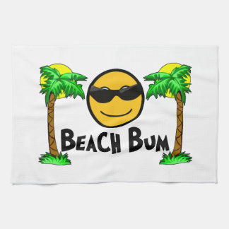 Beach Bum Sunshine & Palm Trees Tea Towel