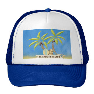 Beach Bum, Surfboards, Palm Trees and Sand Cap