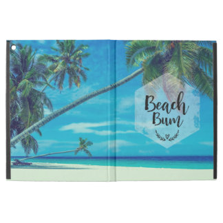 "Beach Bum Typography With Tropical Palm Trees iPad Pro 12.9"" Case"