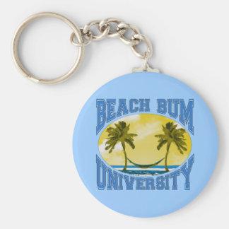 Beach Bum University Basic Round Button Key Ring