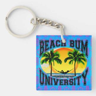 Beach Bum University Acrylic Keychain