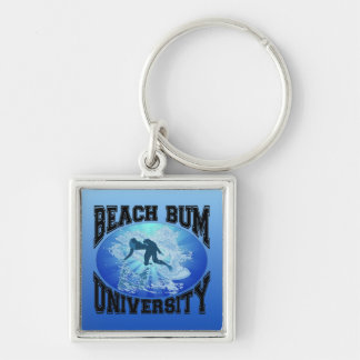 Beach Bum University Keychain